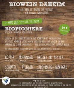 Paket Biopioniere - Online Weinprobe am 12. März 2021